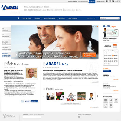 Site Administrable / CMS power.fr : ARADEL