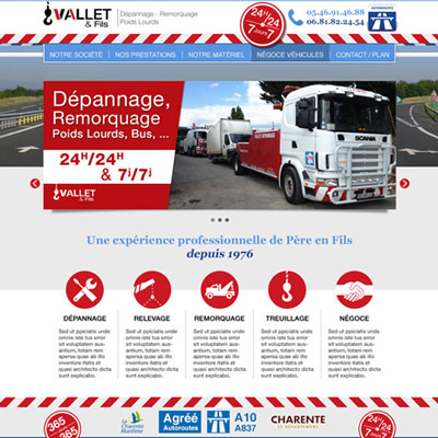 Site RWD : VALLET DEPANNAGE